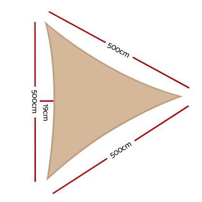 Instahut Sun Shade Sail Canopy Triangle 280gsm 5x5x5m