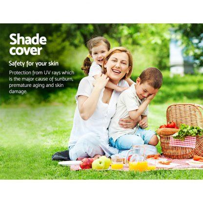 Instahut Shade Sail Cloth Rectangle Shadesail Heavy Duty Sand Sun Canopy 5x6m