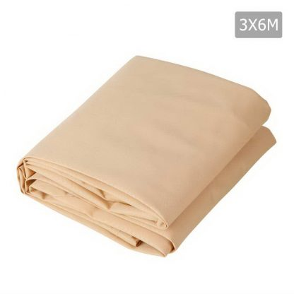 Instahut 3 x 6m Waterproof Rectangle Shade Sail Cloth - Sand Beige
