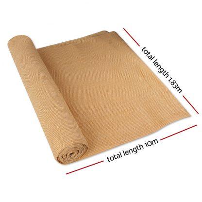 Instahut 1.83 x 10m Shade Sail Cloth - Beige