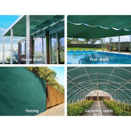 Instahut 1.83x10m 30% UV Shade Cloth Shadecloth Sail Garden Mesh Roll Outdoor Green