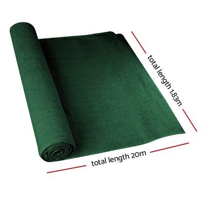 Instahut 90% Sun Shade Cloth Shadecloth Sail Roll Mesh 1.83x20m 195gsm Green