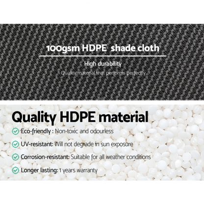 Instahut 1.83x30m 50% UV Shade Cloth Shadecloth Sail Garden Mesh Roll Outdoor White
