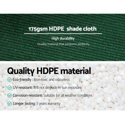 Instahut 1.83 x 30m Shade Sail Cloth - Green