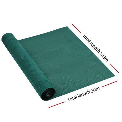 Instahut 1.83x30m 30% UV Shade Cloth Shadecloth Sail Garden Mesh Roll Outdoor Green