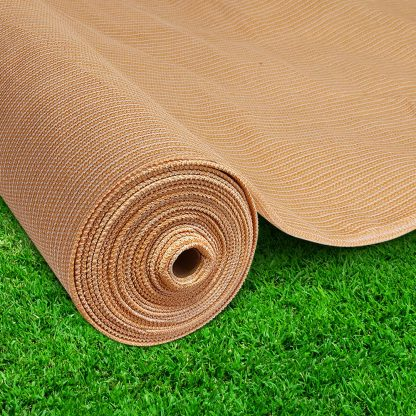 Instahut 70%UV Sun Shade Cloth Shadecloth Sail Roll Mesh Outdoor 1.83x50m Beige