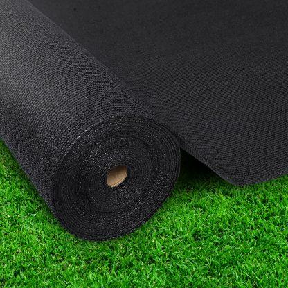 Instahut 3.66 x 10m Shade Sail Cloth - Black