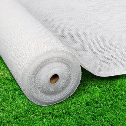 Instahut 3.66x10m 30% UV Shade Cloth Shadecloth Sail Garden Mesh Roll Outdoor White