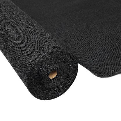 Instahut 50% UV Sun Shade Cloth Shadecloth Sail Roll Mesh Garden Outdoor 3.66x20m Black