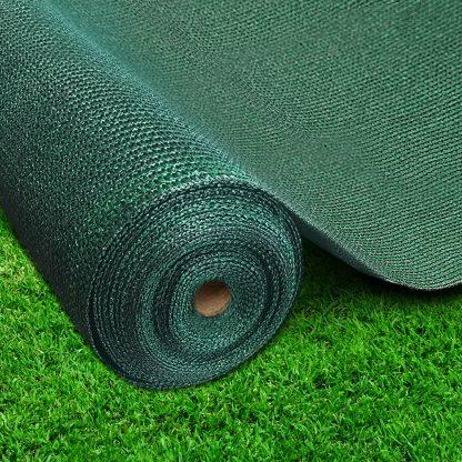 Instahut 50% Sun Shade Cloth Shadecloth Sail Roll Mesh 3.66x20m 100gsm Green