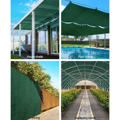 Instahut 70% Sun Shade Cloth Shadecloth Sail Roll Mesh Outdoor 175gsm 3.66x20m Green