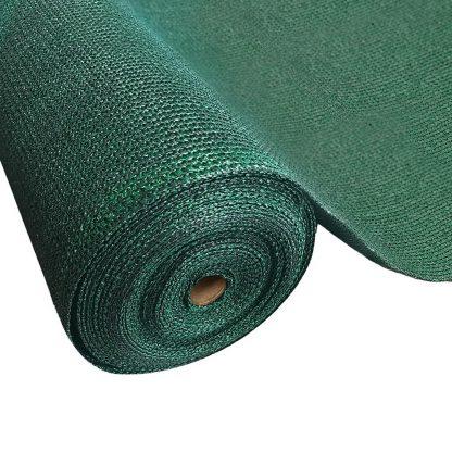 Instahut 90% Sun Shade Cloth Shadecloth Sail Roll Mesh 3.66x20m 195gsm Green