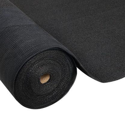 Instahut 3.66x20m 30% UV Shade Cloth Shadecloth Sail Garden Mesh Roll Outdoor Black