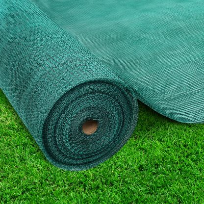 Instahut 3.66x20m 30% UV Shade Cloth Shadecloth Sail Garden Mesh Roll Outdoor Green