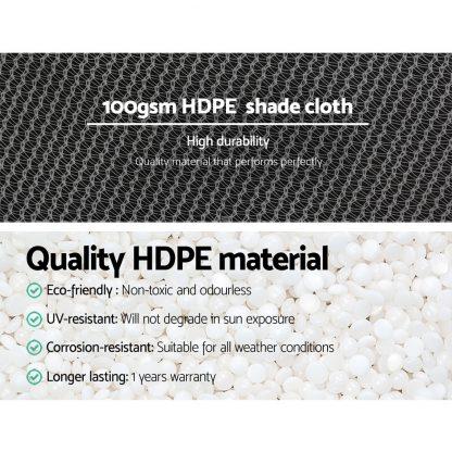 Instahut 3.66x30m 50% UV Shade Cloth Shadecloth Sail Garden Mesh Roll Outdoor White