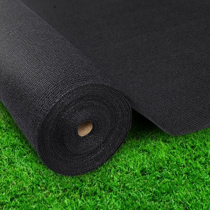 Instahut 70% UV Sun Shade Cloth Shadecloth Sail Roll Mesh Garden Outdoor 3.66x30m Black
