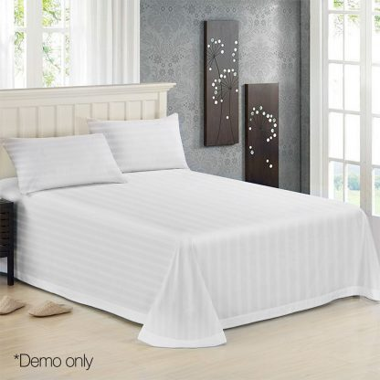 Giselle Bedding Double Size 4 Piece Bedsheet Set - White