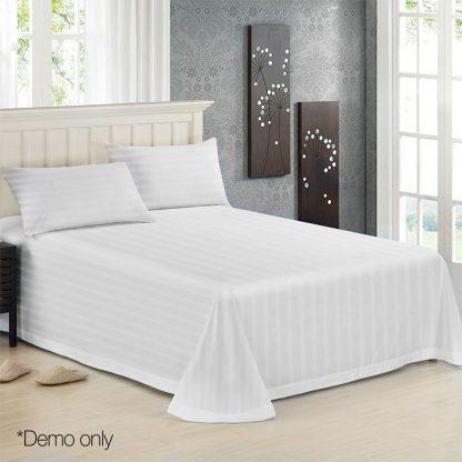Giselle Bedding King Size 4 Piece Bedsheet Set - White