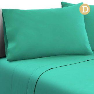 Giselle Bedding Double Size 4 Piece Micro Fibre Sheet Set - Aqua