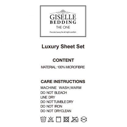 Giselle Bedding Queen Size 4 Piece Micro Fibre Sheet Set - Aqua