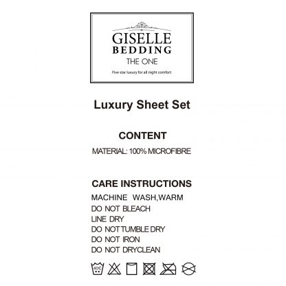 Giselle Bedding Double Burgundy 4pcs Bed Sheet Set Pillowcase Flat Sheet