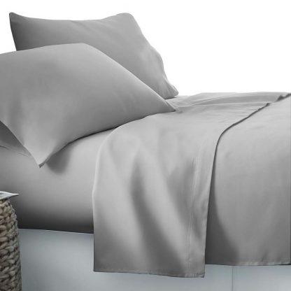 Giselle Bedding Double Size 4 Piece Micro Fibre Sheet Set - Grey