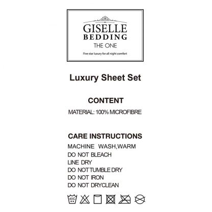 Giselle Bedding King Size 4 Piece Micro Fibre Sheet Set - Purple