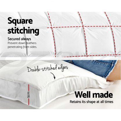 Giselle Double Mattress Topper Bamboo Fibre Pillowtop Protector