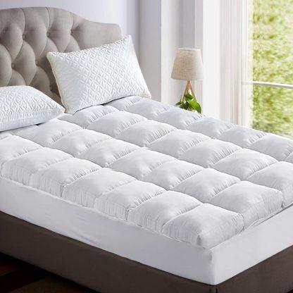 Giselle King Single Mattress Topper Bamboo Fibre Pillowtop Protector