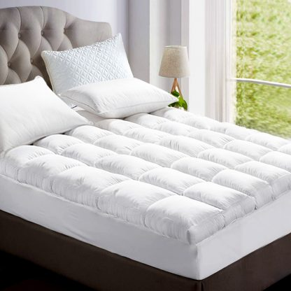 Giselle DOUBLE 1800GSM Mattress Topper Duck Feather Down 9cm Pillowtop Topper