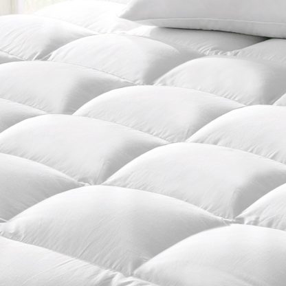 Giselle KING SINGLE 1800GSM Mattress Topper Duck Feather Down 9cm Pillowtop Topper