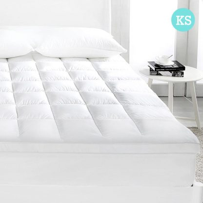 Giselle King SINGLE Mattress Topper Duck Feather Down 1000GSM Pillowtop Topper
