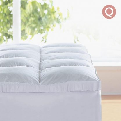 Giselle QUEEN Mattress Topper Goose Feather Down 1000GSM Pillowtop Topper