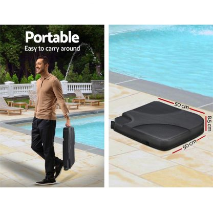Instahut 3M Umbrella with 50x50cm Base Outdoor Umbrellas Cantilever Patio Sun Beach UV Black