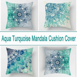 Aqua Blue Turquoise Cushion Covers 4pcs Pack