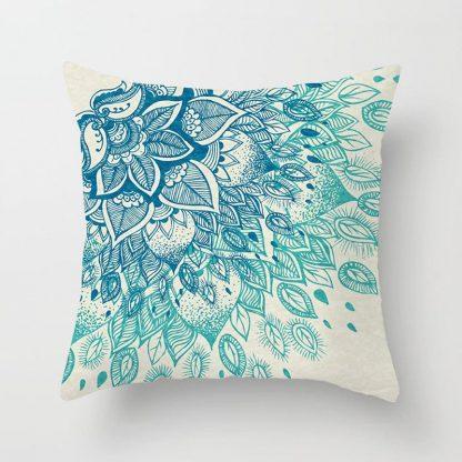 Aqua Blue Turquoise Cushion Covers 4pcs Pack