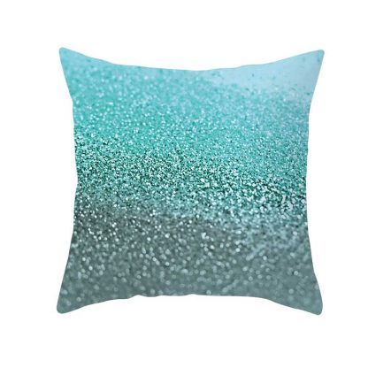 Aqua Blue Sea Style Cushion Covers 4pcs Pack