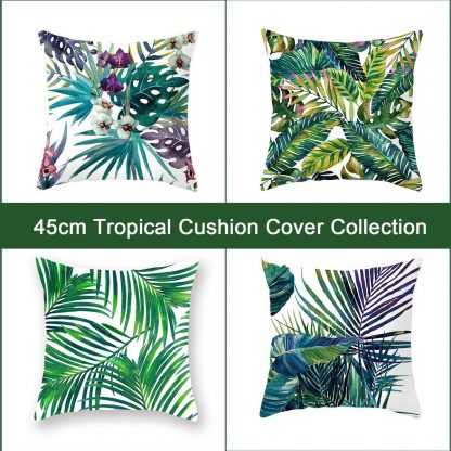 Tropical Style Cushion Covers 4pcs Pack