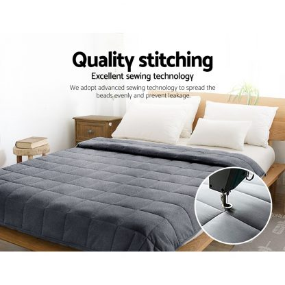 Giselle Bedding 5KG Plush Minky Weighted Gravity Blanket Deep Relax Calming Adult