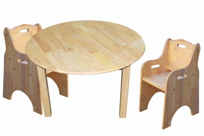 Medium round table and 2 toddler chairs