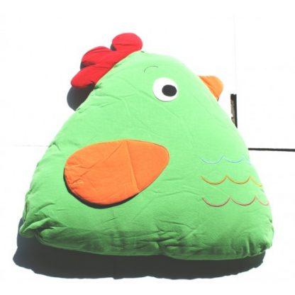 Chick Cuddling Cushion(15x18x35 Cm) Green