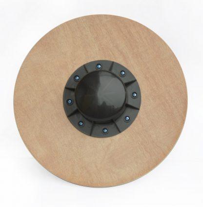 "Heavy Duty 15.5"" Wooden Balance Board with Non-Slip Pad Fitness"