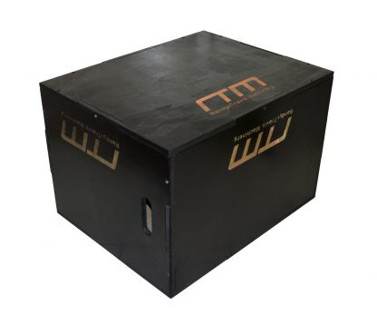 3 IN 1 Black Wood Plyo Games Plyometric Jump Box
