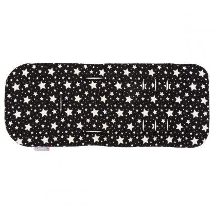Comfi-Cush Stroller Liner - Black & White Stars