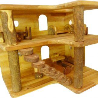 Wooden 2 level modern tree house