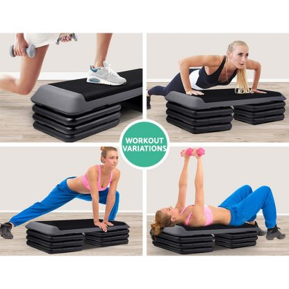 Everfit 4 Level Aerobic Exercise Step Stepper Riser Gym Cardio Fitness Bench