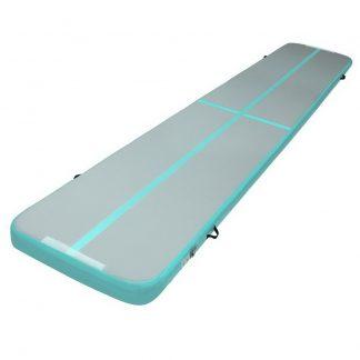 Everfit GoFun 5X1M Inflatable Air Track Mat Tumbling Floor Home Gymnastics Green