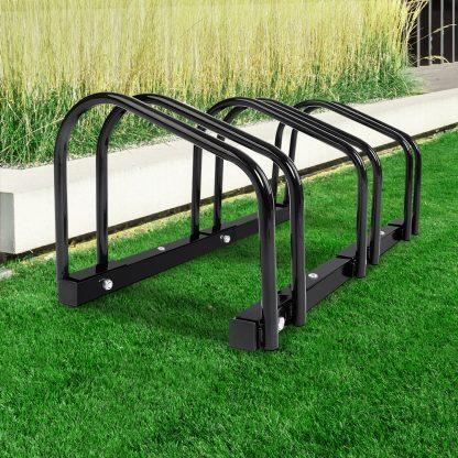 Portable Bike 3 Parking Rack Bicycle Instant Storage Stand - Black