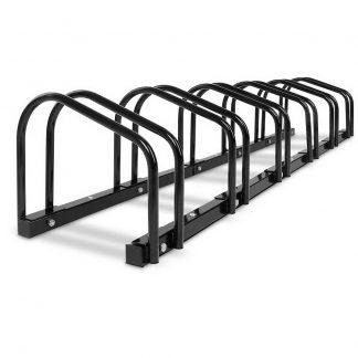 Portable Bike 6 Parking Rack Bicycle Instant Storage Stand - Black