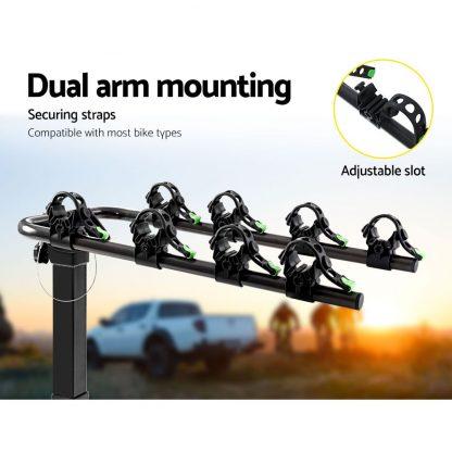"Giantz Bike Carrier 4 Bicycle Car Rear Rack Hitch Mount 2"" Towbar Foldable Steel"